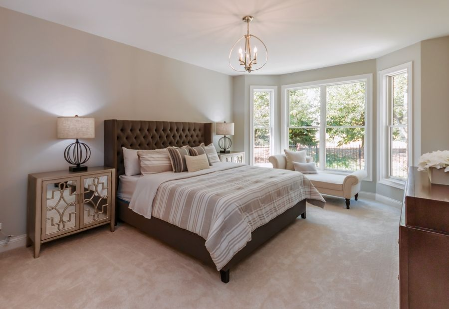 A master bedroom in one of Airhart Construction's homes in Fisher Farm in Winfield.