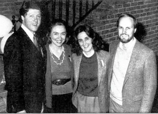 Betsy and Tom Ebeling visited Bill and Hillary Clinton at the Arkansas governor's mansion in the early 1980s. Betsy Ebeling, who died Sunday, was Hillary Clinton's best friend.