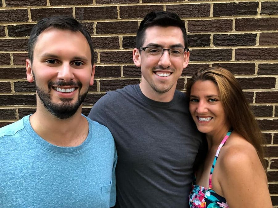 "Golden Ticket Productions is staging its first musical, ""Mamma Mia!"" From left are Joe Pope, director, of Lisle; Ethan Kohring, music director, of Chicago; and Alana Stephens, choreographer, of Round Lake."