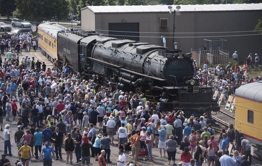 Union Pacific representatives say an estimated 45,000 people visited the Big Boy steam locomotive during its stay in West Chicago.