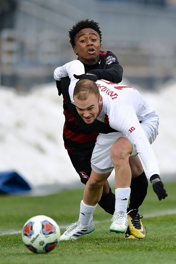 The Chicago Fire traded the rights for Andrew Gutman, here playing for Indiana in the College Cup in December 2017, to FC Cincinnati. Gutman is a Hinsdale Central graduate.