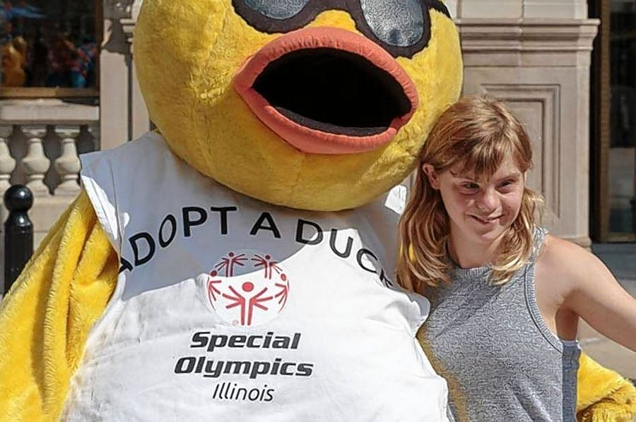 Maria Meyer, a 20-year-old Hinsdale Central graduate, is this year's Duck Derby Ambassador. She was a four-year member of the Special Olympics basketball team as well as the track and field team.