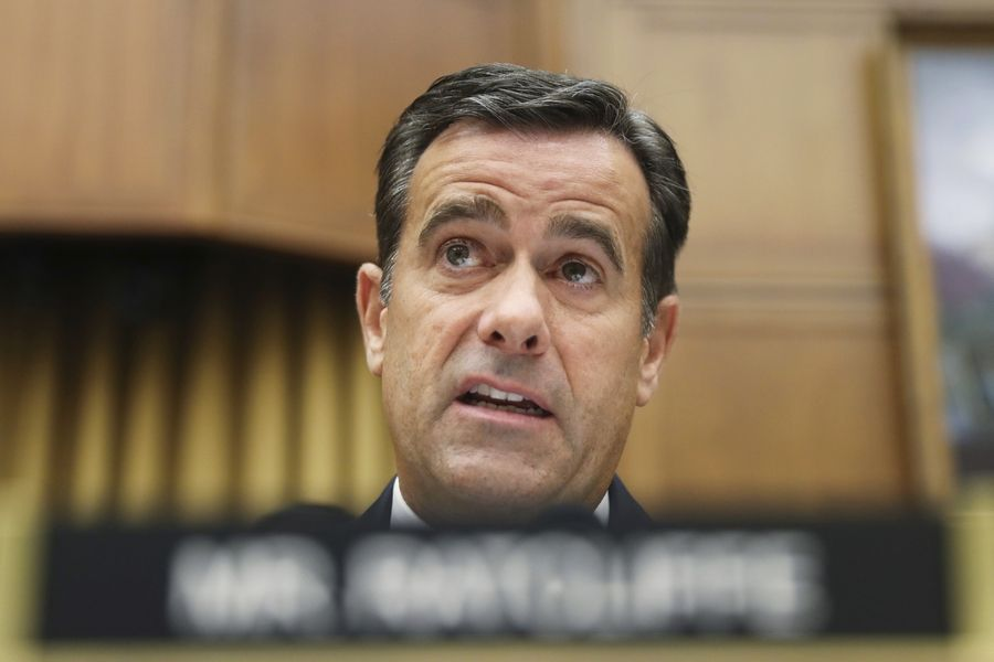 U.S. Rep. John Ratcliffe questions former special counsel Robert Mueller as he testifies before the House Intelligence Committee hearing on his report on Russian election interference.