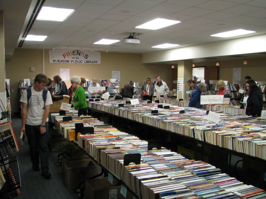 There will be lots to choose from during the annual book sale organized by the Friends of the Wheaton Library Aug. 21-24.