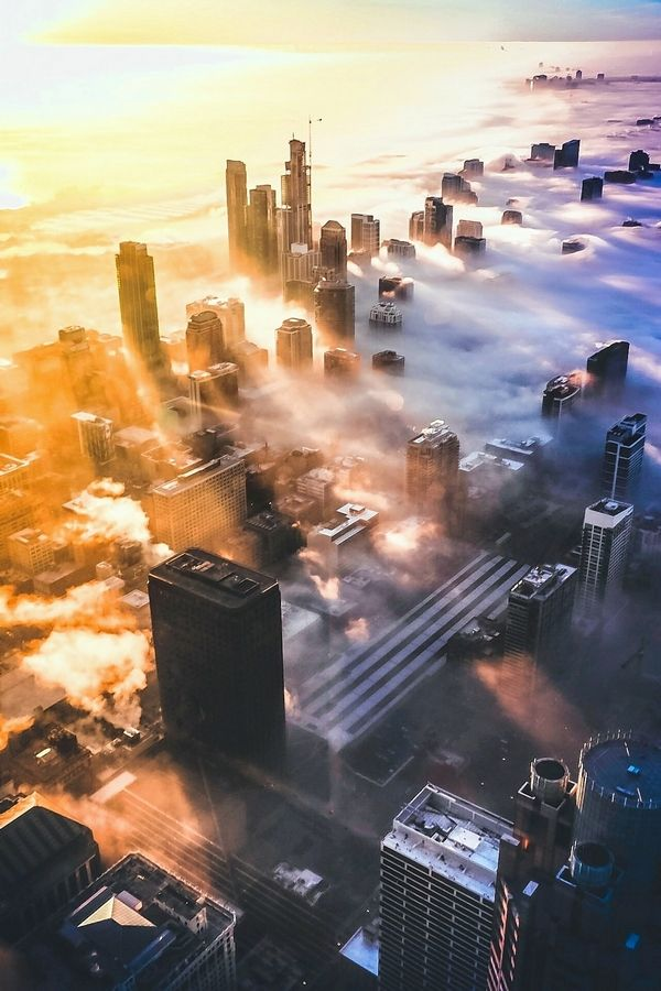 Jack Gillespie snaps this Chicago sunrise with a Canon EOS 6D Mark ll camera.