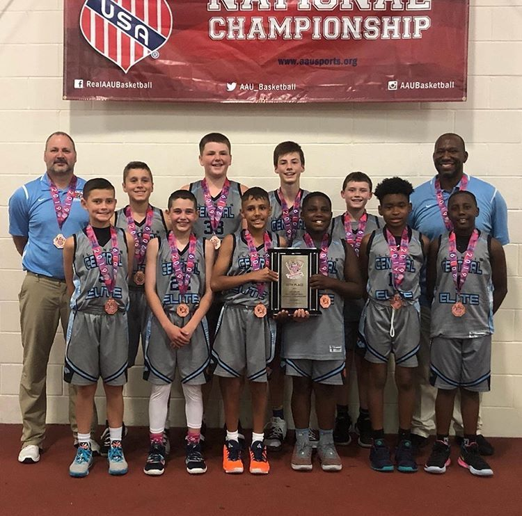 The Illinois Central Elite-ICE Team, from left, front row: Rocco Pagliocca of Vernon Hills, Ryan Jackson of Glenview, Makai Kvamme of Skokie, Carter Davis of Gurnee, Braylon Walker of Gurnee and Jaxson Davis of Gurnee; back row: coach Todd Wolf of Gurnee, Jack Wolf of Gurnee, Jackson Hupp of Arlington Heights, Ian Miletic of Arlington Heights, Noah Gorman of Lake Forest and coach Brian Davis of Gurnee. Not Pictured: E.J. Breland of Oak Park, Jack Duffer of Arlington Heights and coach Octavius Parker of Skokie.