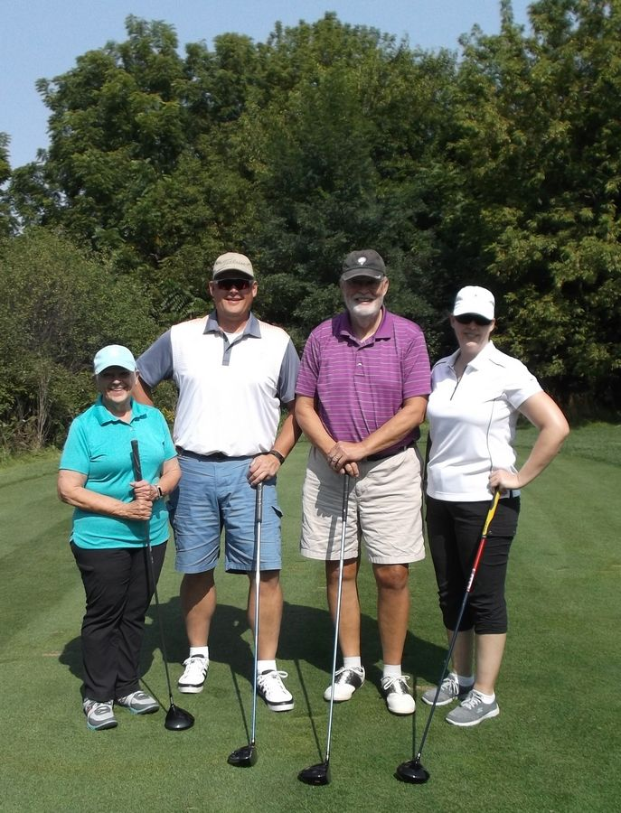 Cary residents Sue, Matt, Mick and April Maifield always enjoy playing in Home of the Sparrow's annual Oktoberfest Charity Golf Outing. This year's fundraising outing will be Monday, Sept. 16.