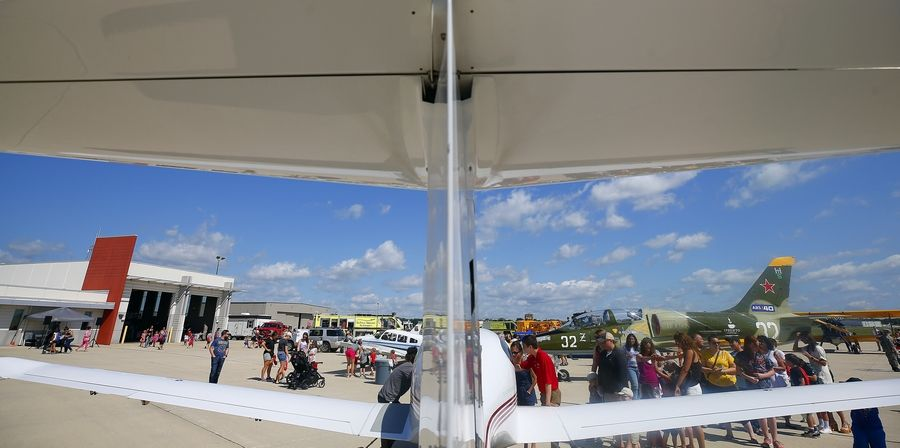 The DuPage Airport's third annual Back to School Celebration attracted roughly 1,500 students and parents who got to learn about careers in aviation and check out a wide variety of aircraft.