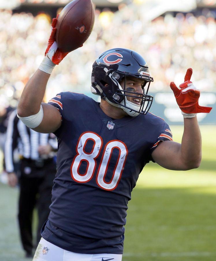 Bears coach Nagy plans on taking things slow with TE Burton