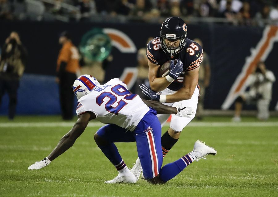Chicago Bears running back Ryan Nall (35) was a preseason sensation last year but didn't make the final roster of 53. This year, Nall is back and ready for another go.