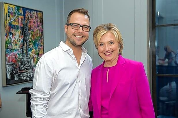 "Colin Ebeling with ""Aunt Hillary"" Clinton, who was a best friend of Colin's mother, Betsy Eberling."