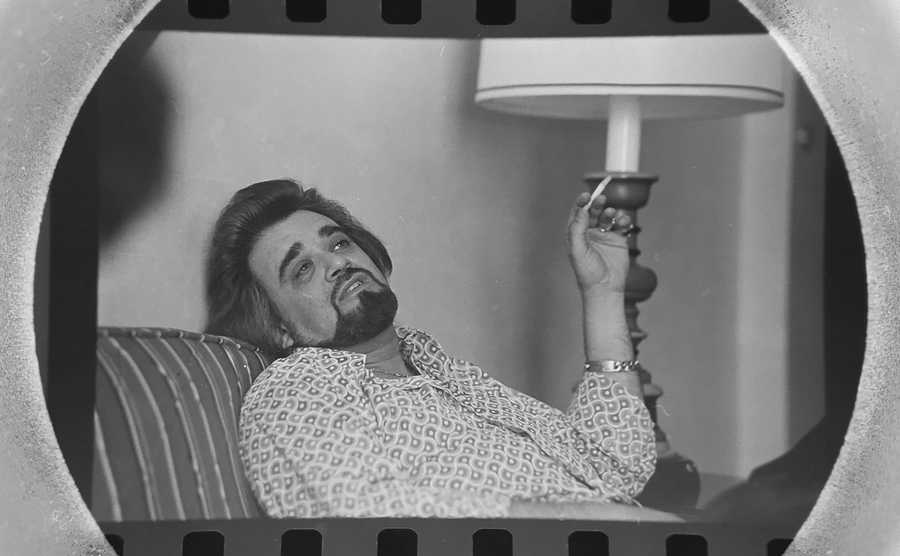The Daily Herald Archive, Assignment # 43,063, Jim Frost photo: Celebrity disc jockey Wolfman Jack at the Chicago Marriott in March of 1977.