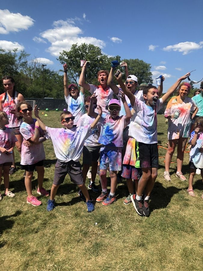 "North Suburban YMCA campers participated in a ""Color Run"" fundraiser race on August 9. North Suburban YMCA"