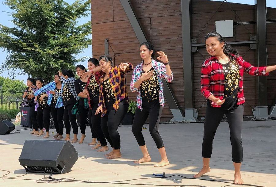 Indiawaale entertains the crowd with an Indian dance number during last year's Wheeling International Fest at Heritage Park.