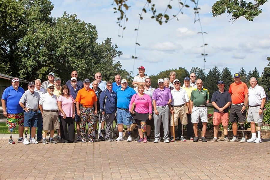 Participants from the All Disability Open pose for a photo at last year's event at St. Andrews Golf and Country Club in West Chicago.