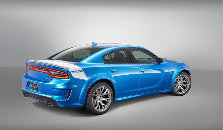 Dodge debuts a limited-production, 717-horsepower Daytona 50th Anniversary Edition of the 2020 Charger SRT Hellcat Widebody model.