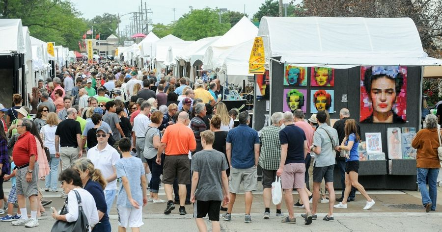 Attendees crowded at the Port Clinton Art FestivalAmdur Productions