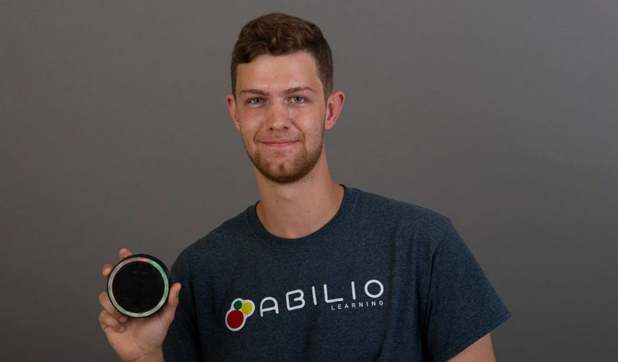 College of DuPage student Keaton Duwelius, with his brother, Parker Duwelius, a 2016 COD graduate, are co-founder of Abilio Learning. The Naperville residents created Lumino Visual Timer, a learning device for students with disabilities.