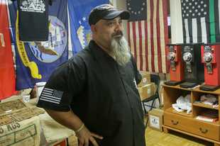 Sal Dazzo, a Geneva resident and eight-year Army veteran, at his shop Gun Barrel Coffee in Batavia.
