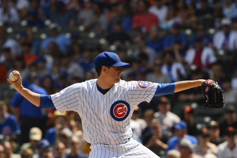 It's been a slog of a season for the Chicago Cubs. On a pitchers day at Wrigley Field Thursday, the Cubs' Kyle Hendricks outdueled the San Francisco Giants' Jeff Samardzija, and the Cubs came away with a 1-0 victory to again reach their high-water mark of 11 games over .500.