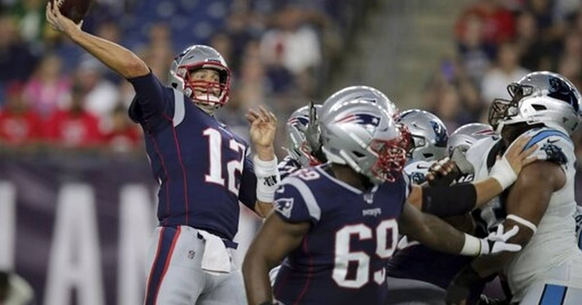 568168ef Newton injures foot, Brady solid in Patriots' 10-3 win
