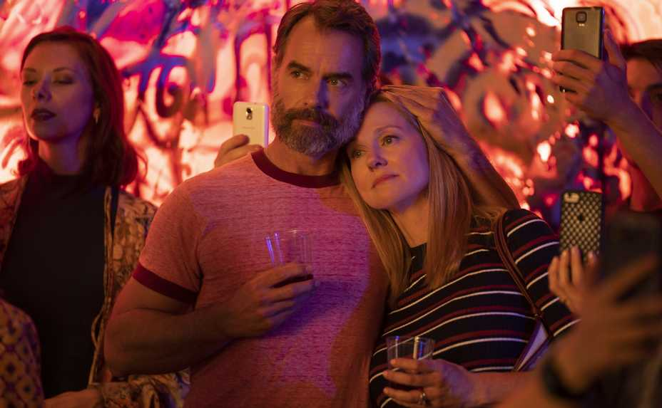 "Murray Bartlett as Michael and Laura Linney as Mary Ann in Netflix's ""Tales of the City."""