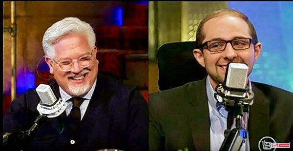 "Glenn Beck, left, will headline Arlington Heights-based Heartland Institute's annual benefit dinner in October with a theme of ""Stopping Socialism."" Here, Heartland's editorial director and research fellow, Justin Haskins, appears with Beck on BlazeTV."