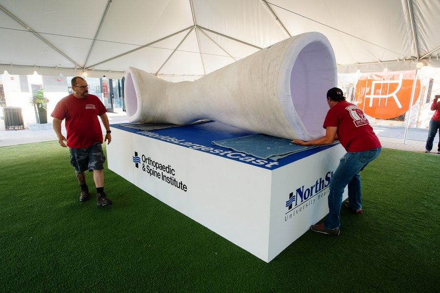 The world's largest cast will be on display Aug. 31 and Sept. 1 at Westfield Old Orchard mall in Skokie.