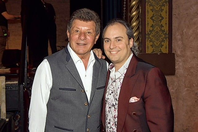Singer Frankie Avalon, left, has become a mentor and good friend to Ron Onesti, owner of the Arcada Theatre in St. Charles.