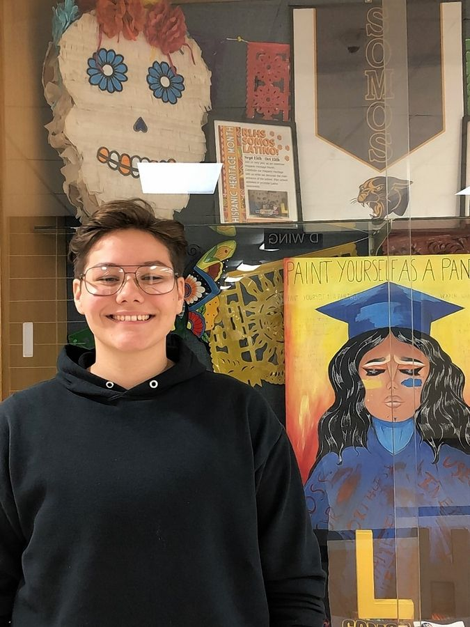 "Lee Daluge, 17, a Round Lake High School senior who identifies as a gay transgender male, says teaching LGBTQ history in schools will provide youths positive role models and create tolerance. ""It can also create being appreciated and understanding that these people are real and they are not here to take anything from society, but they are actually giving back,"" he says."