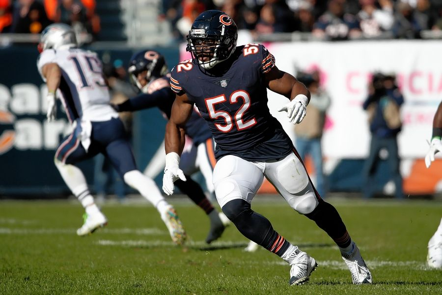 the best attitude 4cf9c 60d21 One year later, Chicago Bears' Khalil Mack trade already has ...
