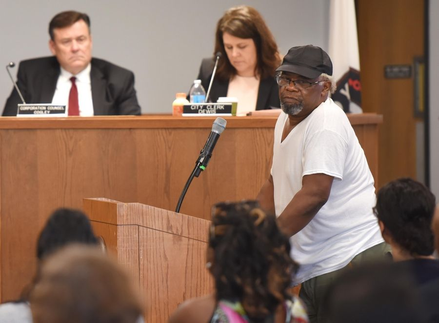 Charles Clements, father of Decynthia Clements, spoke at an Elgin City Council in July, when the firm Hillard Heintze presented the results of their investigation into the fatal police shooting of his daughter.