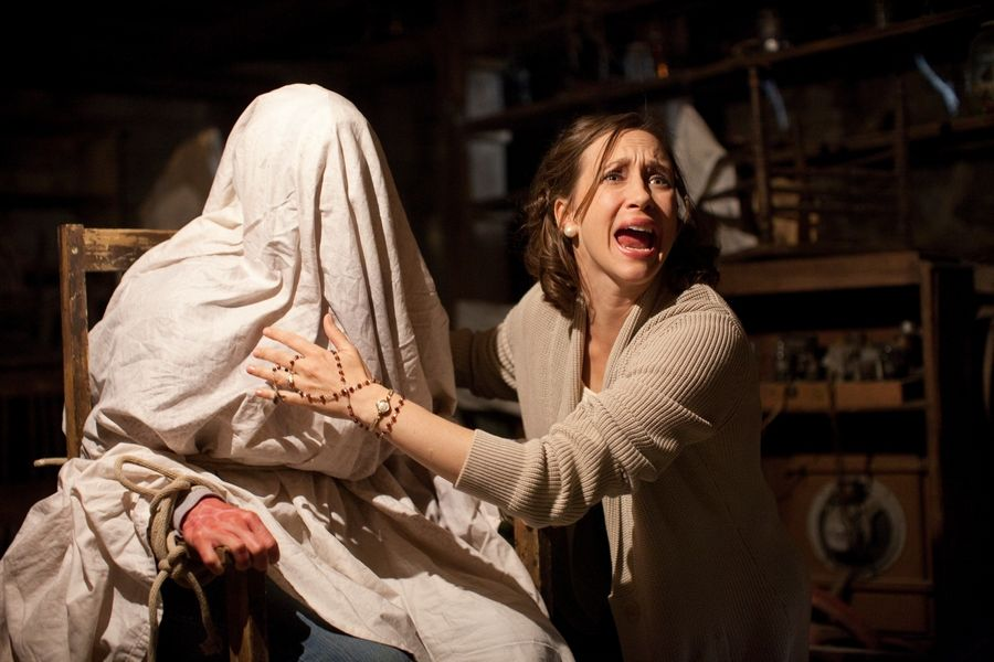 "Clairvoyant Lorraine Warren (Vera Farmiga) tries to help a possessed mother in the horror tale ""The Conjuring."""