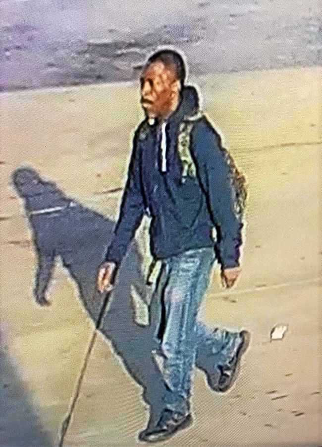 A surveillance image shows the man authorities say attacked another man with a knife Wednesday evening in Rosemont.