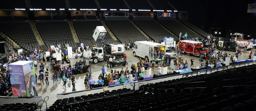 Elgin Area School District U-46 will showcase its curriculum and career pathways during the district's fifth annual career expo on Sept. 11 at the Sears Centre Arena in Hoffman Estates. The event was held there for the first time last year. More than 3,000 eighth-graders will attend the expo this year.