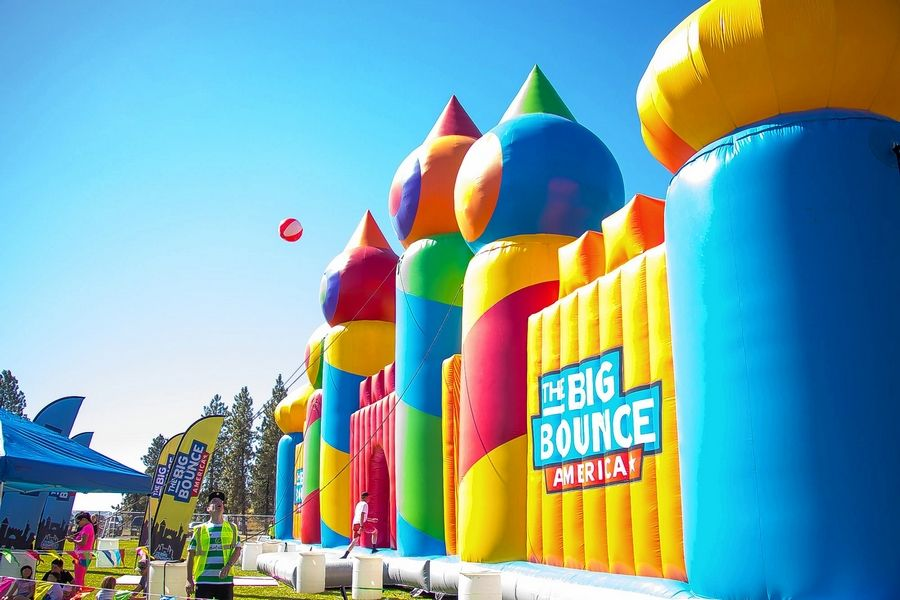 This 10,000-square-foot inflatable castle -- certified as the largest bounce house in the world -- will be in Busse Woods starting this weekend.
