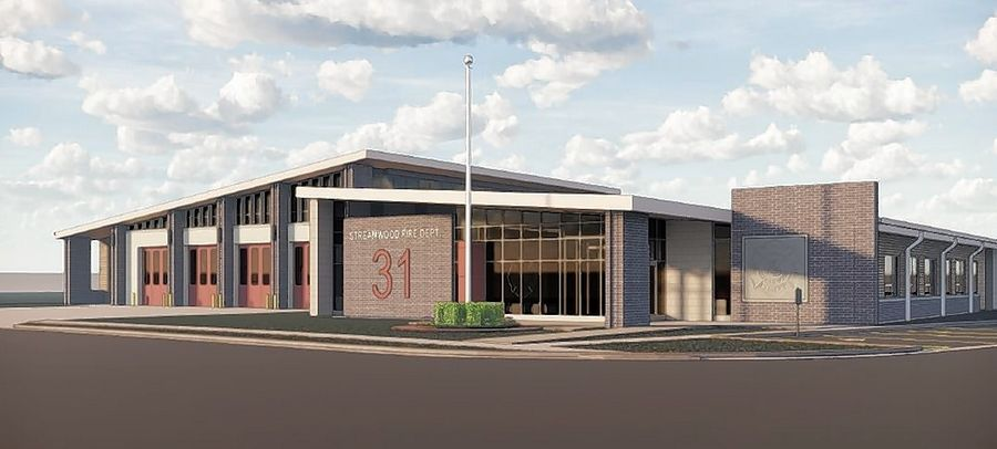 A rendering of the new Fire Station 1 Streamwood officials hope to open in 2021 to replace the current 47-year-old facility at 1204 S. Park Ave.