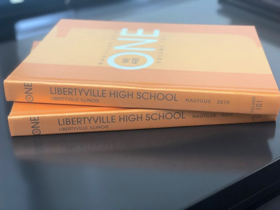Copies of Libertyville High School's 2019 Nautilus yearbook. The 2020 edition won't feature senior quotes for the first time since 2015.