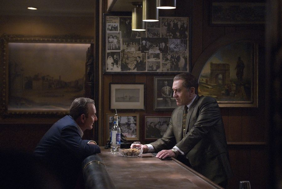 "Joe Pesci, left, and Robert De Niro star in ""The Irishman."" Netflix said the film will open theatrically Nov. 1 and begin streaming on Nov. 27."