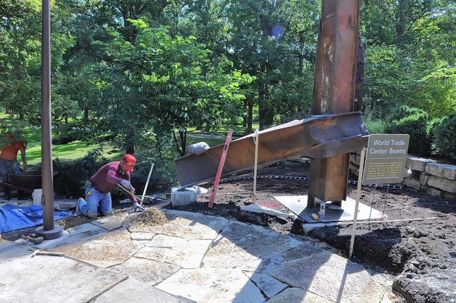 Two beams that supported the World Trade Center before the terrorist attacks of Sept. 11, 2001, will become part of a permanent display at Cantigny Park in Wheaton.