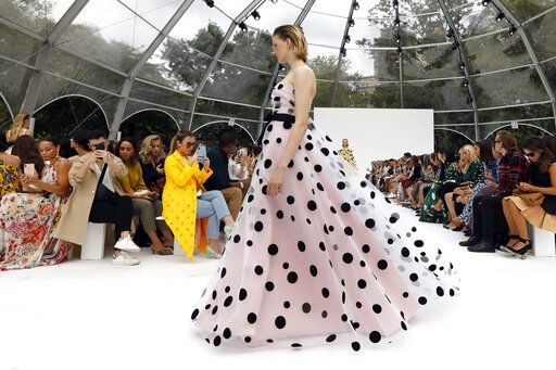 CORRECTS CAPTION AND BYLINE FOR FASHION CAROLINA HERRERA - The Carolina Herrera collection is modeled during Fashion Week, in New York, Monday, Sept. 9, 2019.