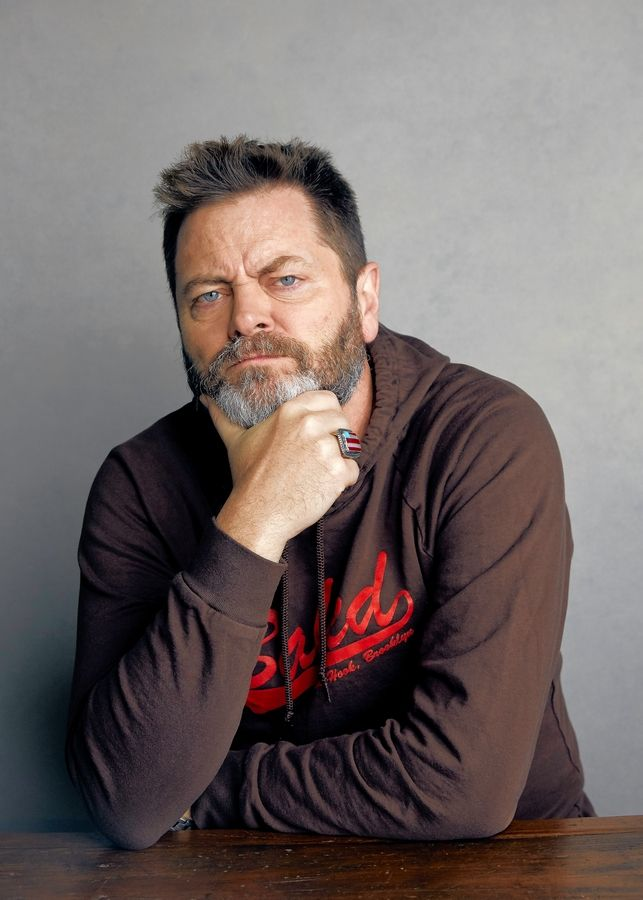 Actor and comedian Nick Offerman performs at the Chicago Theatre on Sunday, Sept. 15.