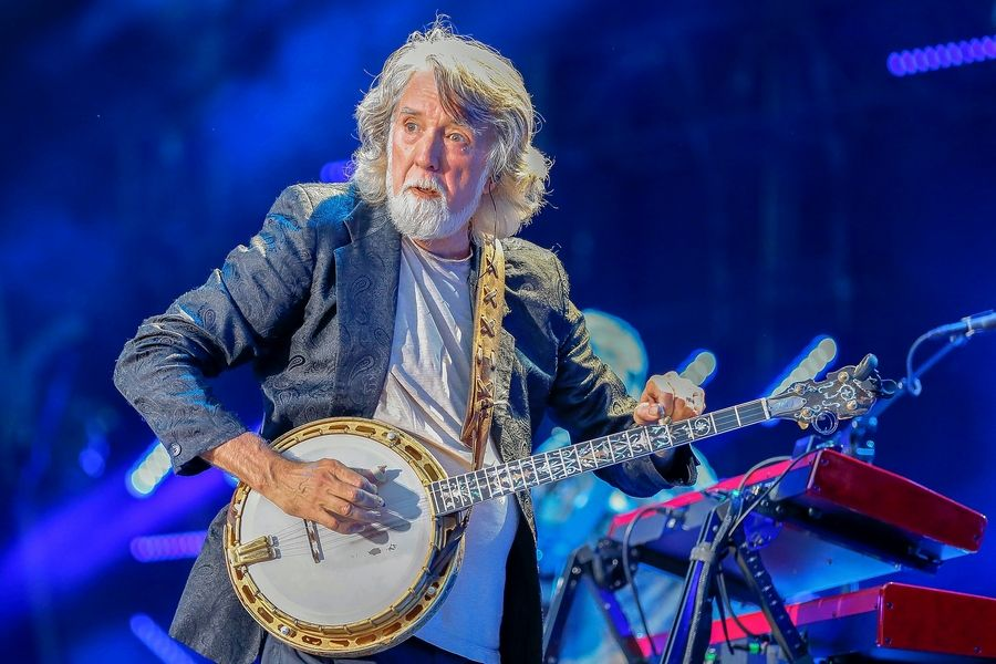 John McEuen of the Nitty Gritty Dirt Band performs at the Woodstock Opera House on Saturday, Sept. 14.