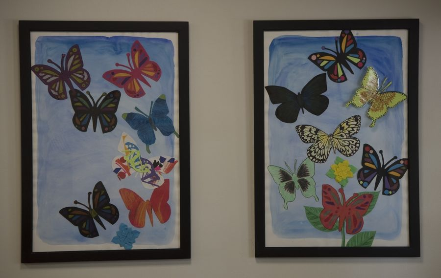 Pastor Karl Fay of Prince of Peace Lutheran Church in Palatine invited Community Resource Center clients of all ages to help create the butterflies.