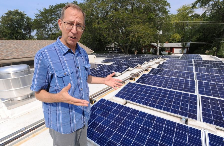Our Saviour's Lutheran Church Operations Officer Jim Valentine discusses the Arlington Heights church's decision to install rooftop solar panels.