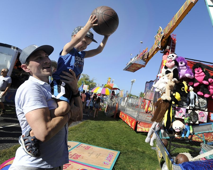 Kids' games and prizes are part of the fun at Des Plaines Fall Fest.