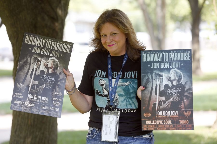 "Michelle Korpalski, a certified nursing assistant from Hanover Park, was accompanying her client, Mira Rhead of Schaumburg, on a ""Runaway to Paradise"" cruise in Spain in late August when she was called up on stage to sing ""Livin' On a Prayer"" with Jon Bon Jovi."