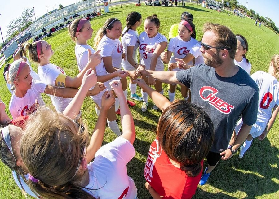 Waubonsee Community College women's soccer coach Brad Schlemmer recently broke the school record for victories.