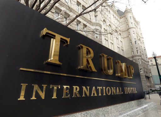 FILE - In this Dec. 21, 2016, file photo, The Trump International Hotel at 1100 Pennsylvania Avenue NW, is photographed in Washington. America's vaping industry has taken its fight to fend off regulation directly to President Donald Trump's doorstep, with a lobbying group twice booking meetings at his Washington hotel.