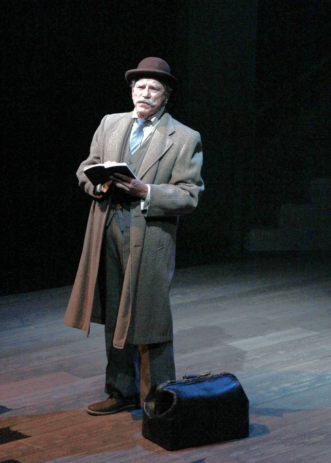 "Norm Woodel plays Dr. John Watson in Buffalo Theatre Ensemble's revival of Jeffrey Hatcher's suspense/thriller ""Holmes and Watson."""